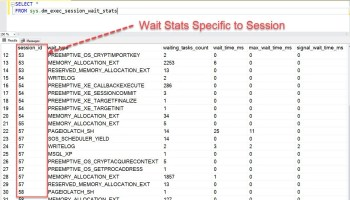 SQL SERVER - Wait Stats Collection Scripts for 2016 and Later Versions sessionidwaitstats