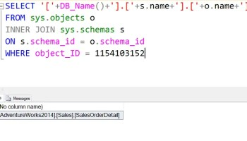 How to Build Three Part Name from Object_ID? - Interview Question of the Week #134 threepart