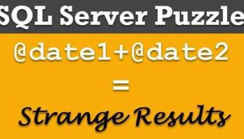 SQL SERVER - Puzzle - Write a Shortest Code to Produce Zero puzzledatedate