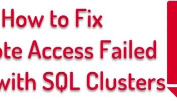 SQL SERVER - Slow SQL Server 2016 Installation in Cluster: RunRemoteDiscoveryAction clusterederror