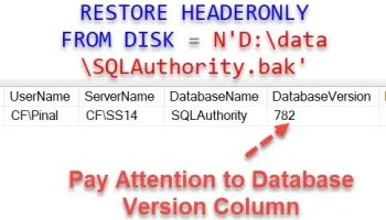 What does Verify Backup When Finished do in SQL Server? - Interview Question of the Week #283 databseversion
