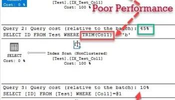 SQL SERVER - TRIM() Function - UDF TRIM() trimperf