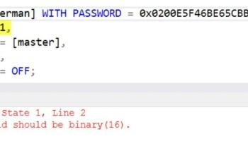 SQL SERVER - Transfer Logins Error: Msg 15021: Invalid Value Given for Parameter Password move-login-err-01