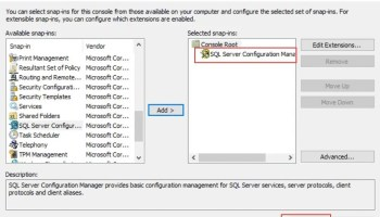 SQL SERVER - Configuration Manager - MMC could not create the snap