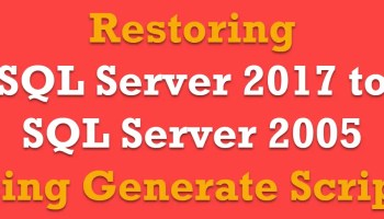 SQL SERVER - 2008 - Copy Database With Data - Generate T-SQL For Inserting Data From One Table to Another Table genescript