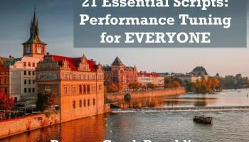 SQL SERVER - Pre-Con 21 Essential Scripts in Prague and Amsterdam prague1