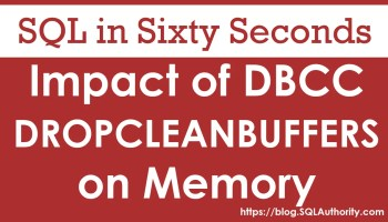 SQL SERVER - Increasing Speed of CHECKPOINT and Best Practices 85-FreeCleanBuffer