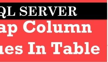 SQL SERVER - Puzzle - Strange Behavior With Extra Comma in Create Table Statement swap-columns
