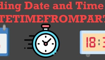 SQL SERVER - Puzzle - How Does YEAR Function Work? DATETIMEFROMPARTS0