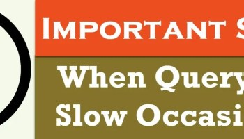 SQL SERVER - Top Reasons for Slow Performance slowqueries