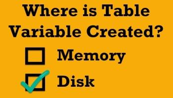 SQL SERVER - Regular Table or Temp Table - TempDB Logging Explained table-variable1