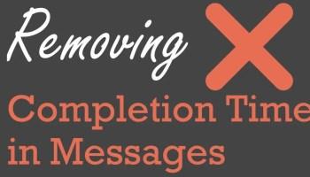 SQL SERVER Management Studio - Completion Time in Messages Removing-Completion1