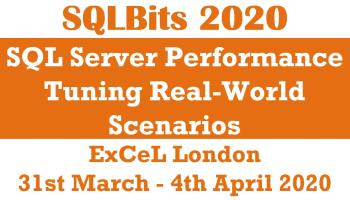 SQL Server Performance Tuning - Upcoming Public Training sqlbits
