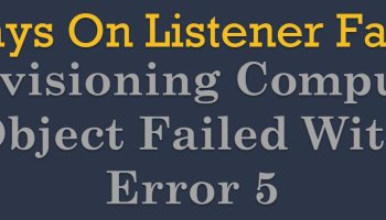 SQL SERVER - Always On Listener Creation Failure - Enabling Object ProdListener Failed With Error 5 failure