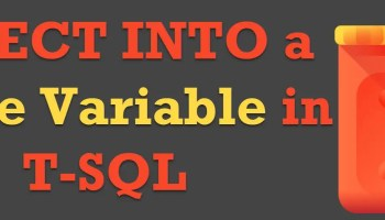 SQL SERVER - Regular Table or Temp Table - A Quick Performance Comparison SELECT-INTO-a-Table-Variable