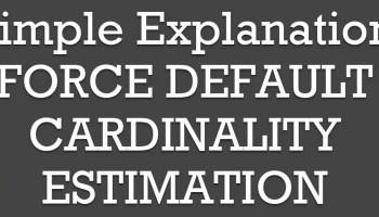 SQL SERVER - Temp Table vs Table Variable - Cardinality Estimation FORCE-DEFAULT1