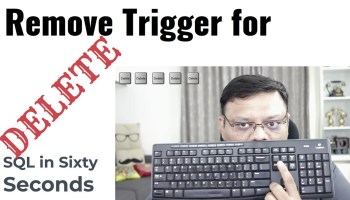 How to Capture Deleted Rows Without Trigger? - Interview Question of the Week #297 133-DeleteTrigger-yt