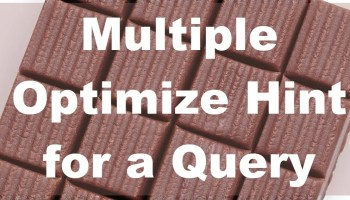 SQL SERVER - Parameter Sniffing Simplest Example multipleparam