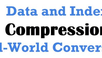 SQL SERVER - COLUMNSTORE and COLUMNSTORE_ARCHIVE data compression IndexCompression