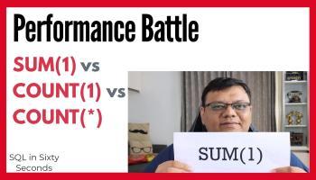 SQL SERVER - SUM(1) vs COUNT(*) - Performance Observation 177-SomeOne-main-yt