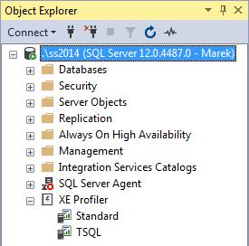 XE Profiler - Object Explorer