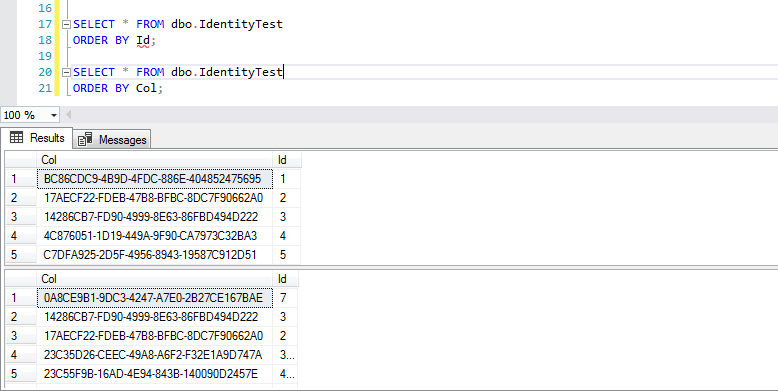 Select - check order