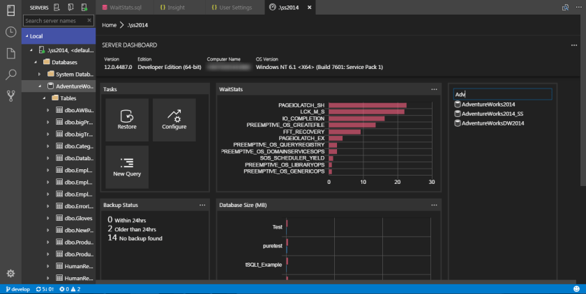 SQL Operations Studio - Widget 08