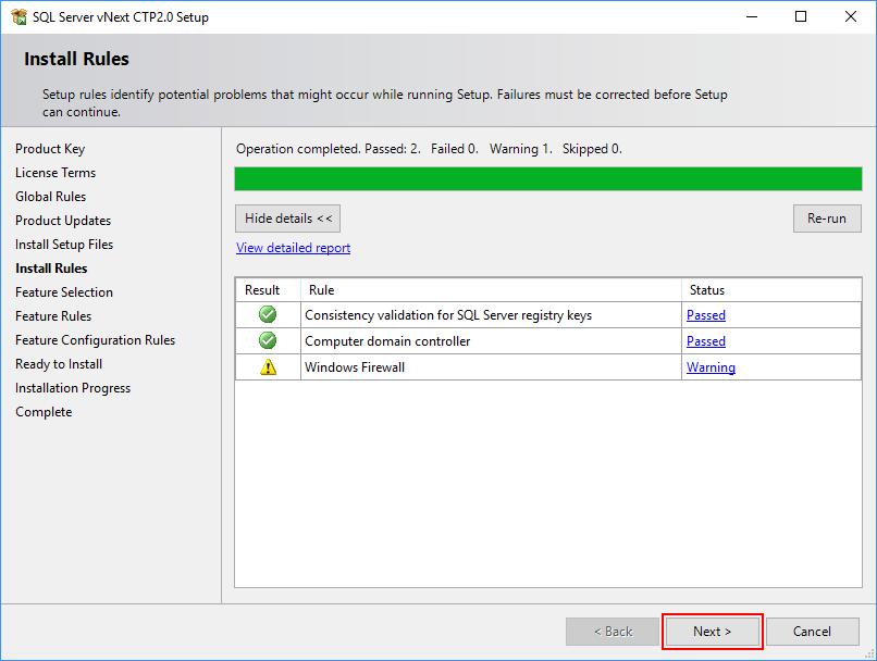 SQL Server 2019 Setup - Install Rules