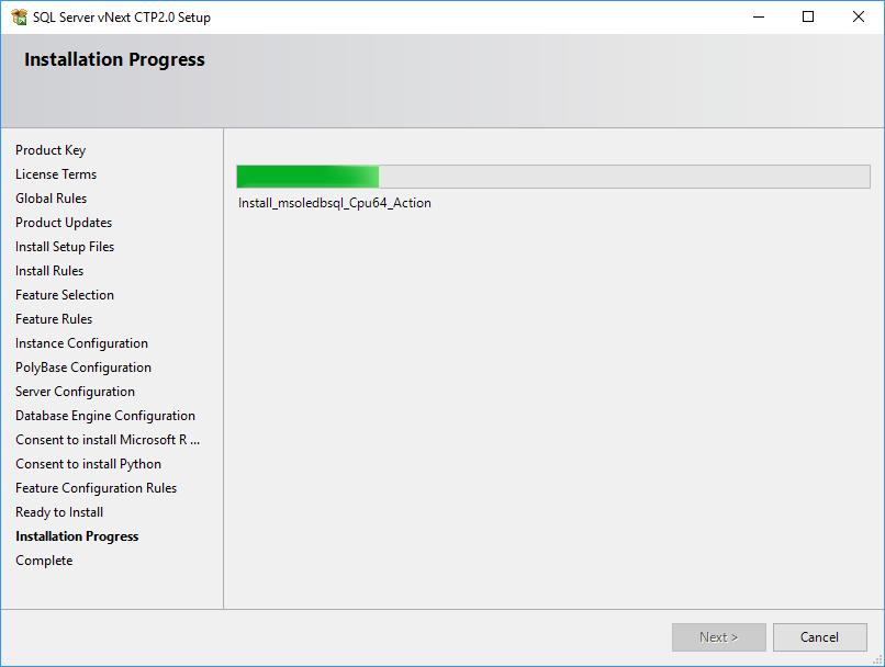 SQL Server 2019 Setup - Installation progress