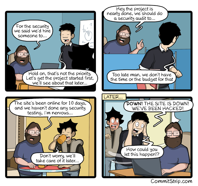 CommitStrip Security - Try a Hack - DevSecOps - SecDevOps