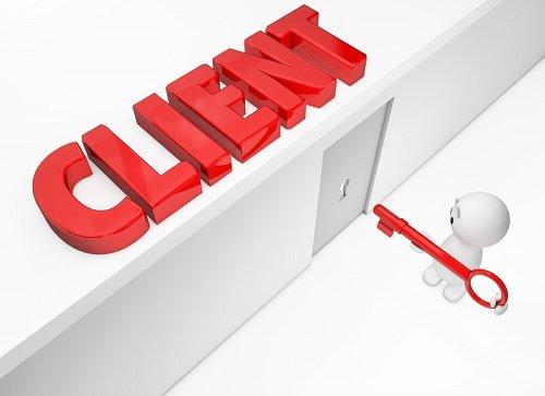 Negosiasi pintu menuju klien