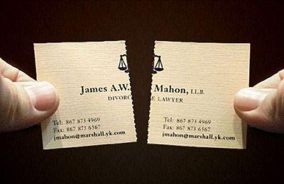 Tearable Divorce Lawyer Business Card