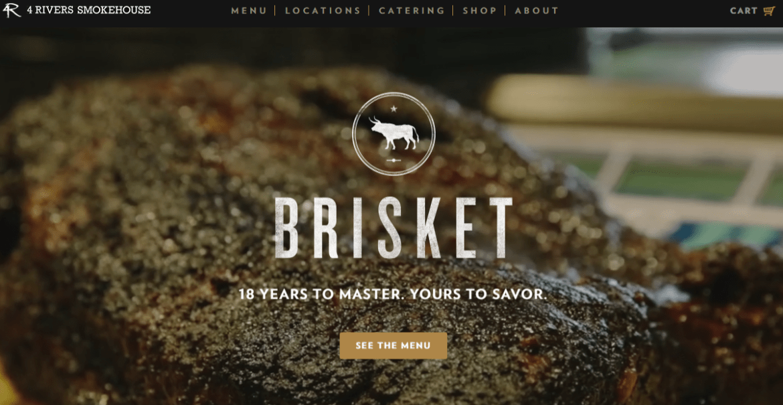 Contoh Desain Website brisket