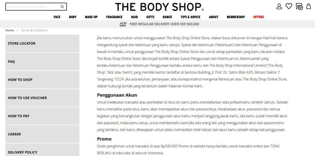 kebijakan dan peraturan online shop
