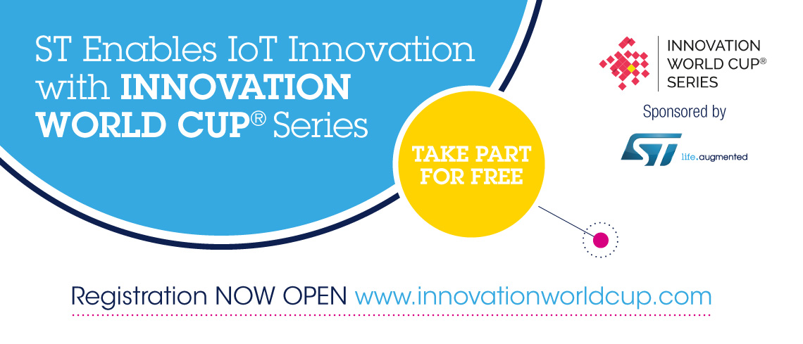 ST Enables IoT Innovation with Innovation World Cup Series!