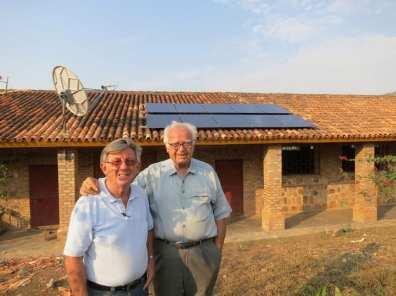 Satellite Antenna and Photovoltaic Panels