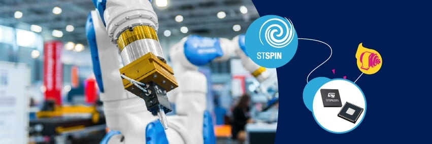 STSPIN32F0 is ideal for motion control