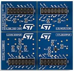 The PCB of the STEVAL-LDO001V1