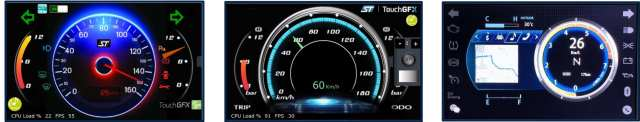 TouchGFX interfaces for two-wheelers running on Accordo 2