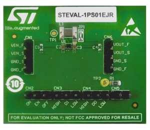 The STEVAL-1PS01EJR evaluation board