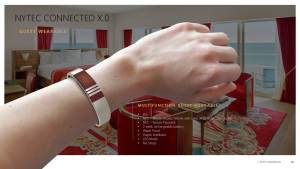 An example of the Connected X.0 wristband for guests