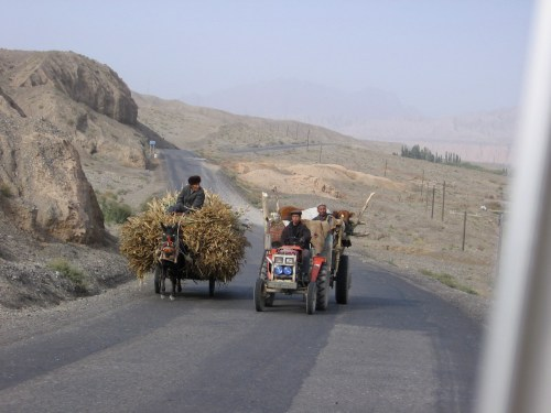 Uighur passing lane.