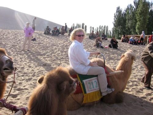 me on a camel at Mingsha