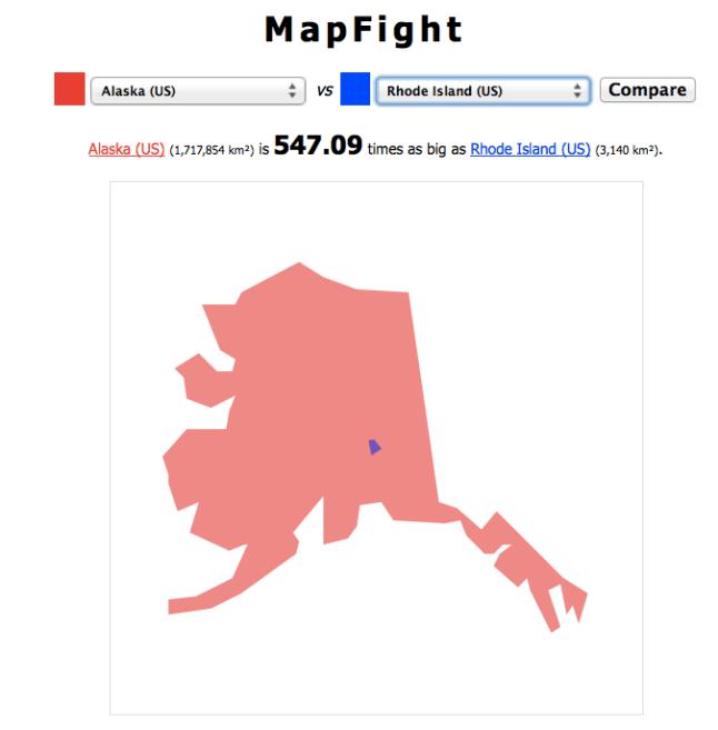 Map Fight: Alaska vs. Rhode Island