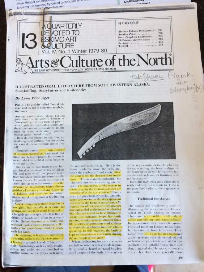 storyknife article