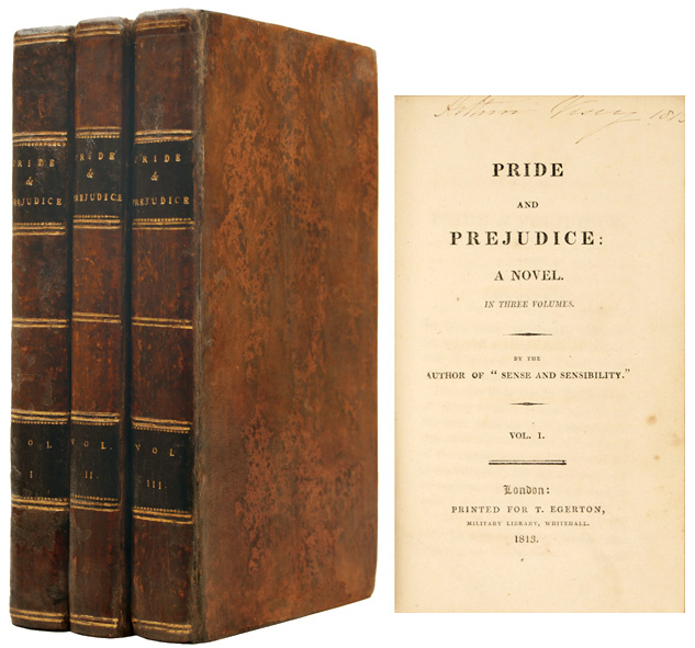 first edition of Jane Austen's Pride and Prejudice