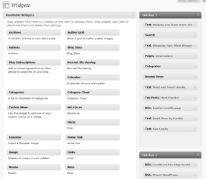 WordPress Widget Panel