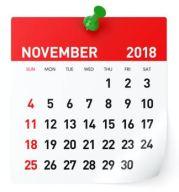 November 2018   Gemeinde-Kalender-Informationen