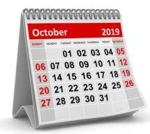 Oktober 2019  Gemeinde-Kalender-Informationen-Veranstaltungen