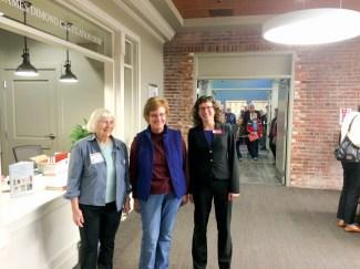 Former APRL librarians Lois Evans de Violini, Gini Horn, and current librarian Tara Murray.